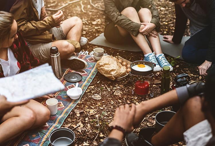team bonding - camping