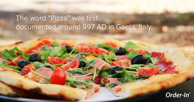 pizza was first documented in Gaeta, Italy
