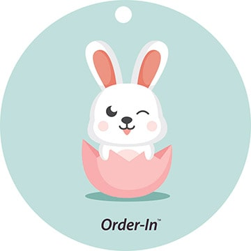 Easter gift tag design circle