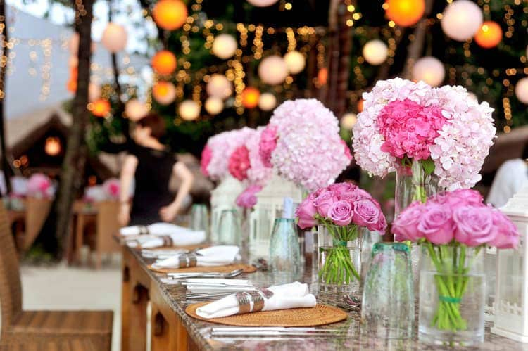 event with table setting and decorations