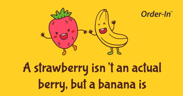 fun fact about fruit - banana is a berry