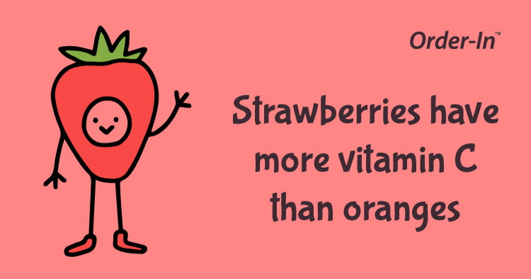fun fact about fruit - strawberry has lots of vitamin C