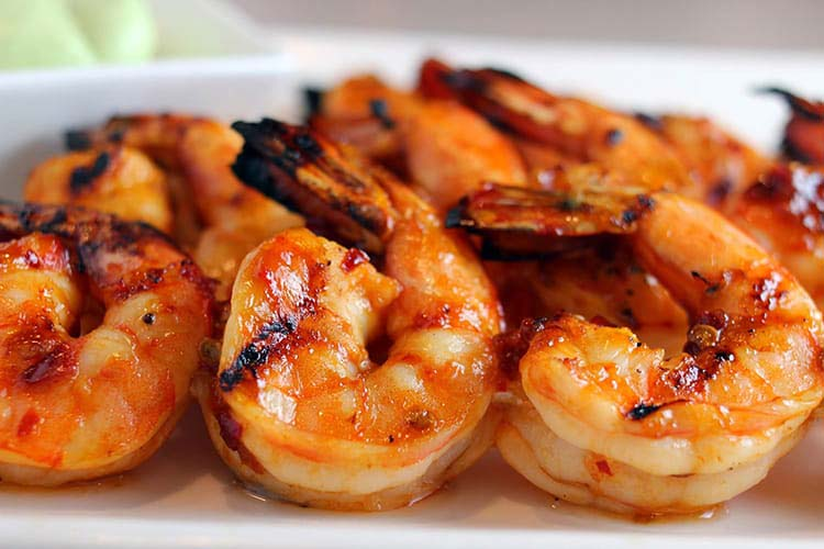 corporate catering with prawns
