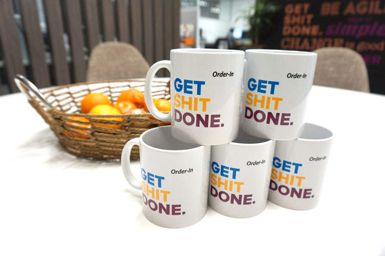 unique coffee mugs with sayings - Order-In mugs