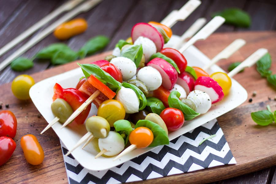 Christmas finger food skewers