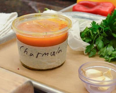 label food containers with masking tape