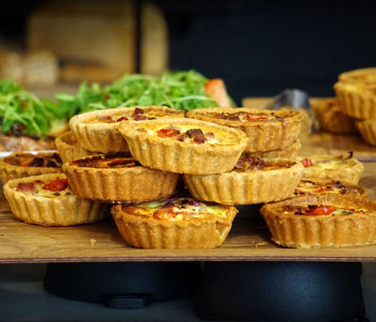 Affordable staff lunch ideas - mini quiche pies