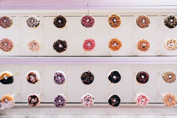 corporate event - donut wall