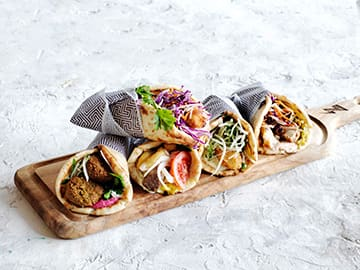 Greek catering - tasty gyros from Zeus