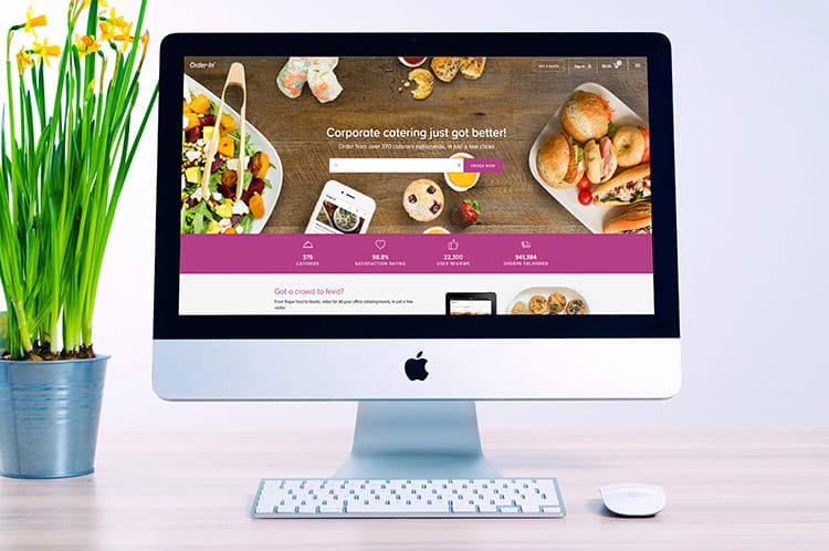 order office catering easily using an online catering portal