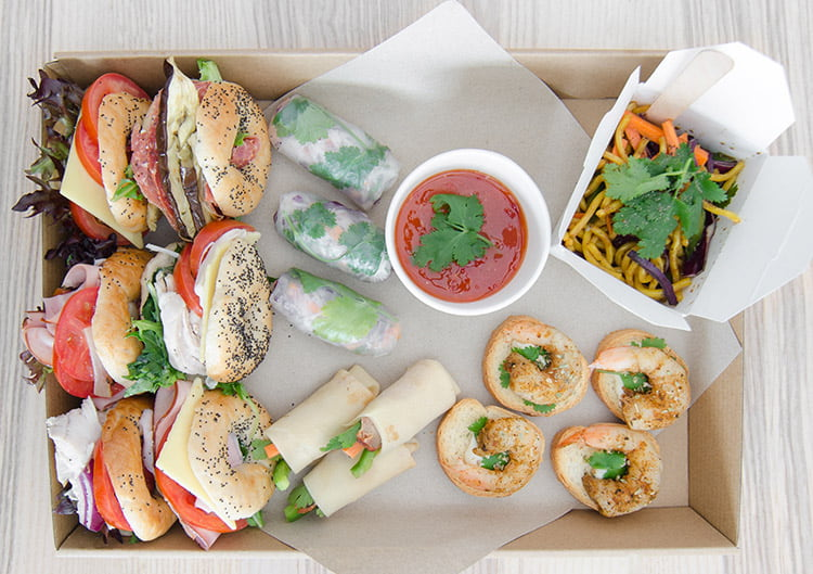 working lunch from mushroom catering sydney
