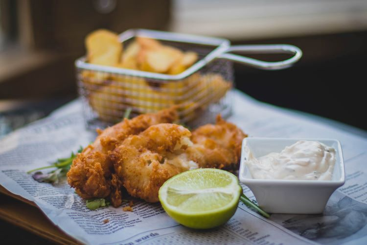 winter comfort food catering ideas - fish and chips