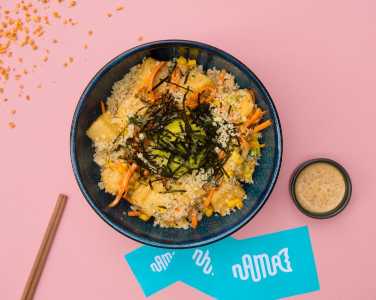 Vegan catering - try a poke bowl from Nama Poke