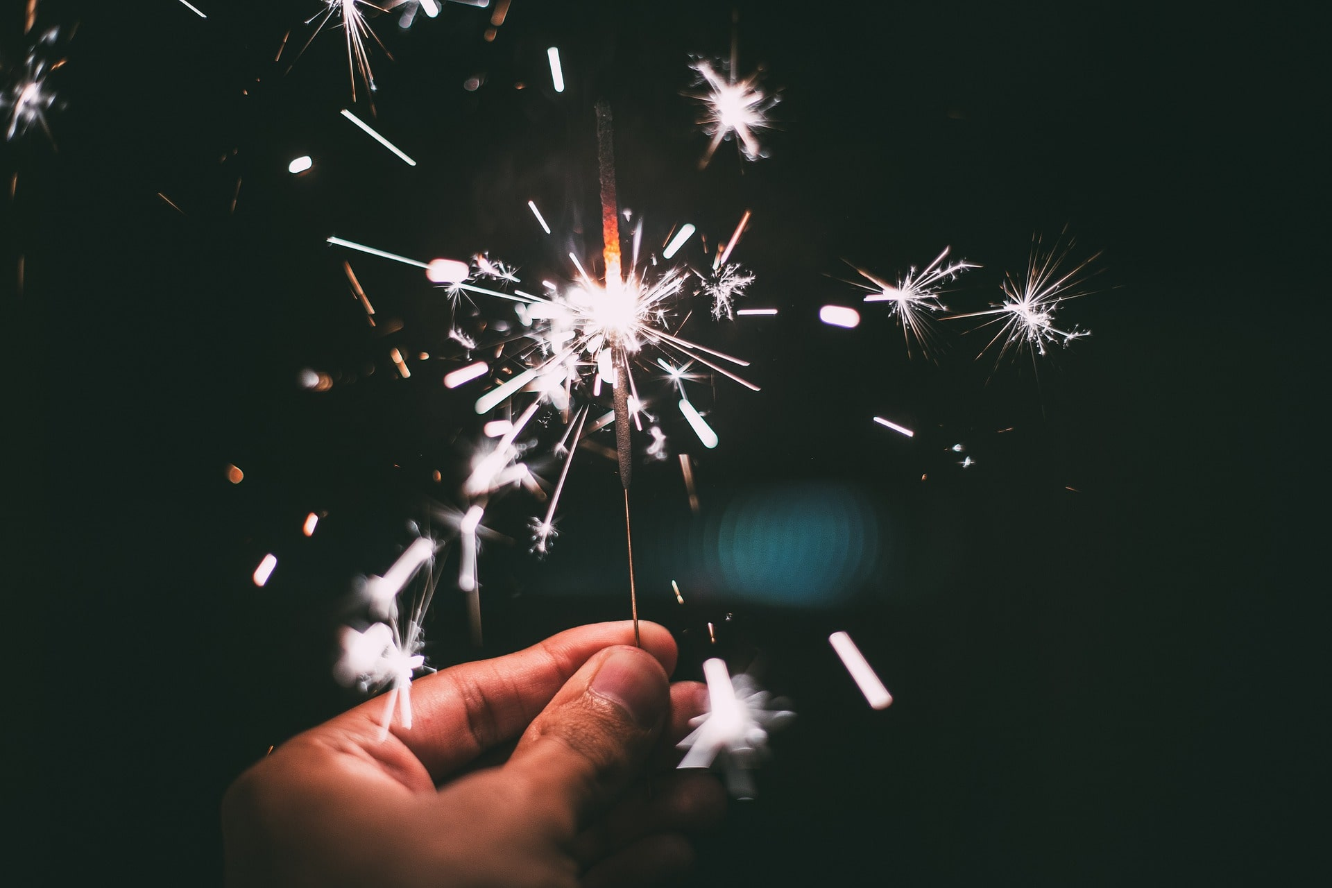 a sparkler for new years office celebrations